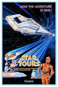 VINTAGE DISNEYLAND STAR TOURS POSTER  12