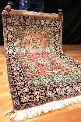 """Seidenteppich Blumen Kaschmir Seide """"Gereinigt"""" Orient Teppich Rug 155x92m #5174"""