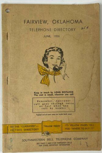 Telephone Directory Fairview Oklahoma June, 1956 Vintage Phone Book