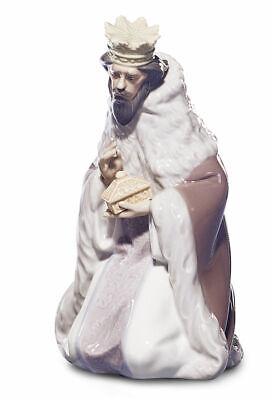Lladro King Gaspar Natividad Estatuilla De #5480 Marca Punta Navidad Religioso F