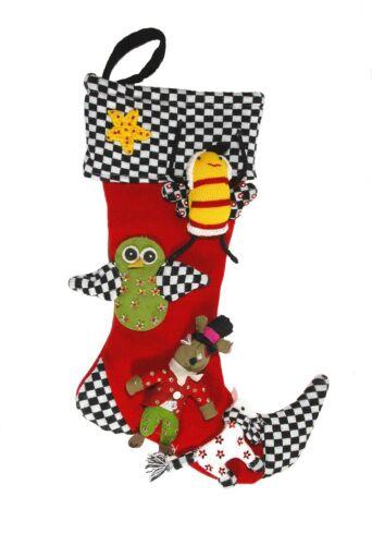 MacKenzie Childs Courtly Check Christmas Stocking
