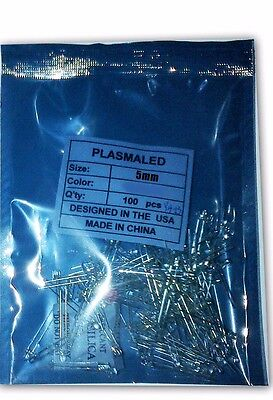 5mm Rgb Slow Red Blue Green Led 100 Pcs 30 Deg Usa 100 Pack