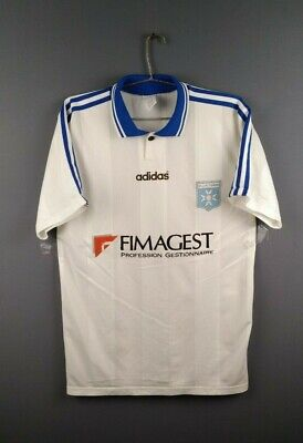 4/5 Auxerre jersey Large 1997 1998 home shirt  soccer football Adidas ig93 image