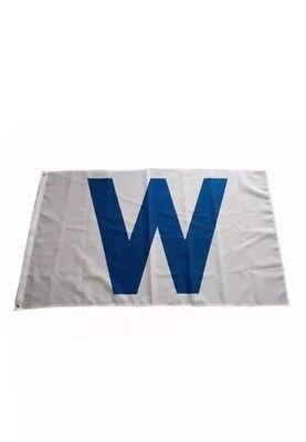 5' Outdoor Indoor Banner (3x 5 feet Indoor Outdoor Chicago Cubs Fans W Flag Win Banner Baseball Team New)