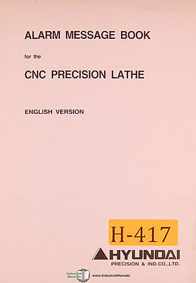 Hyundai Hi Trol Ez Cnc Lathe Alarm Message Programming Manual 1996