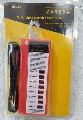 Zareba Multi-light Electric Fence Tester Measures Voltage Along Fence Rsvt8 Nip