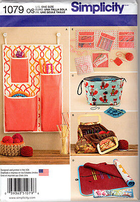 Simplicity Pattern 1079 for Storage Cases for Knit and Crochet Accessories