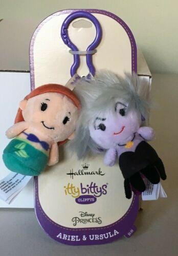 Hallmark Itty Bittys Clippys The Little Mermaid ARIEL & URSULA ~ NWT