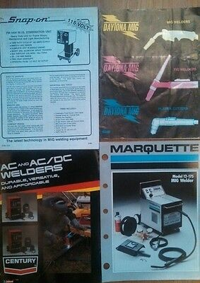 Vintage Welding And Plasma Cutting Literature Lot Century Lincoln Marquette Sola