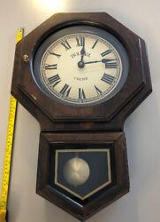 Bulova  Chime Wall Clock with Pendulum and Digital Chimes - Used