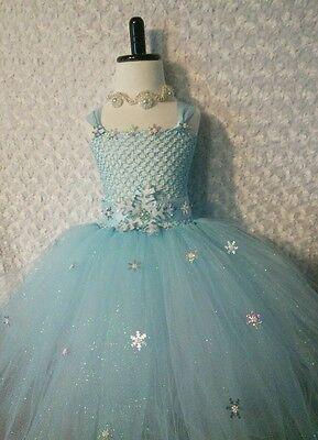 Little Girl Toddler dress/ Elsa Frozen/ tutu dress/ Pictures/ Parties/ ballroom