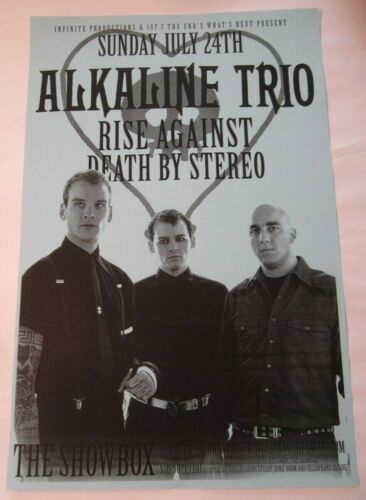 Alkaline Trio Rise Against Death By Stereo 2005 Seattle Concert Original Poster
