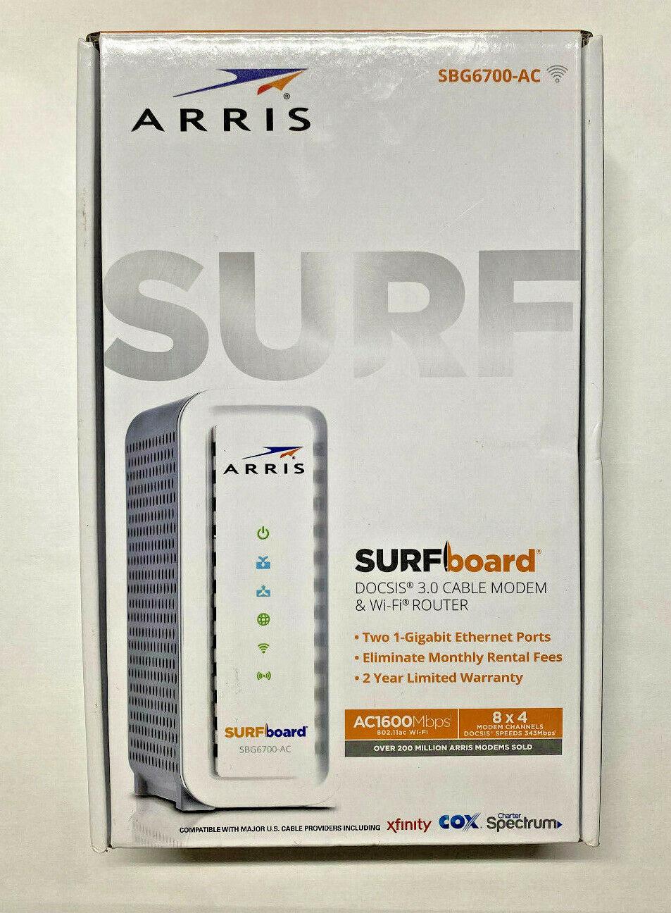 ARRIS SURFboard  DOCSIS 3.0 Cable Modem Plus AC1600 Dual Ban