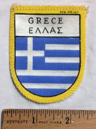 GRECE Greece Greek Flag Souvenir Patch Badge made in Holland