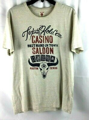 Texas Holdem Casino Saloon T-Shirt Mens Sz Medium Best Hand In Town Austin