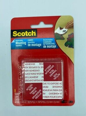 Scotch Mounting Tape Squares 3M Removable Foam 8 Adhesives