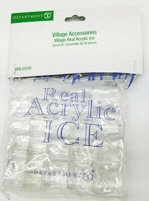 Dept 56 D56 Christmas Village Accessories Real Acrylic Ice 56.53141 Set Of 22 ()