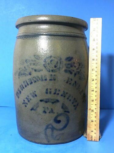 Stoneware Jar, Dilliner & Eneix, New Geneva PA, Stencil; Freehand #2 & Stripe