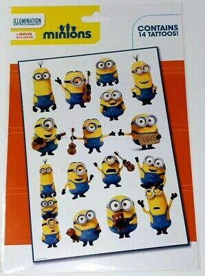 Minions Temporary Tattoos Great Fun Kids Party Bag Fillers Despicable Me 14 Pack segunda mano  Embacar hacia Spain