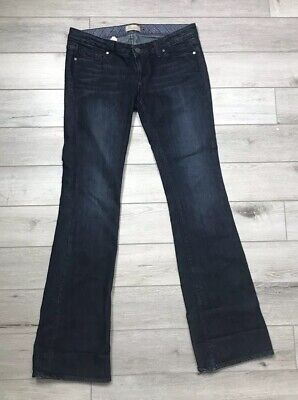 Paige Maternity Jeans Size 28 Westbourne Dark Distressed Boot Cut  ()