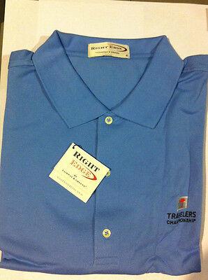 Right Edge By Fairway & Greene Men's Golf Shirt Sky Blue Medium