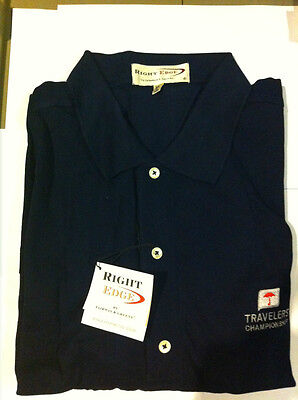 Right Edge By Fairway & Greene Men's Golf Shirt Navy Large