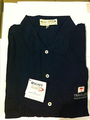 Right Edge By Fairway & Greene Men's Golf Shirt Navy Xl