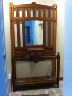 Art Deco Style Hall Stand with mirror and umbrella posts Uraidla Adelaide Hills Preview