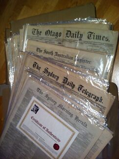 Authentic Collection of original 'Ned Kelly' Newspapers******1881 Cheltenham Kingston Area Preview