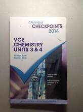 Cambridge VCE Chemistry Units 3&4 2014 Checkpoints Burwood East Whitehorse Area Preview