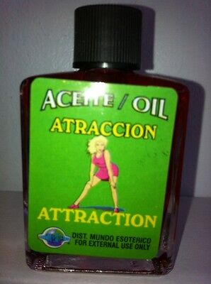 MYSTICAL / SPIRITUAL OIL (ACEITE) FOR SPELLS & ANOINTING 1/2 OZ ATTRACTION