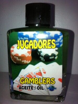 MYSTICAL / SPIRITUAL OIL (ACEITE) FOR SPELLS & ANOINTING 1/2 OZ GAMBLERS
