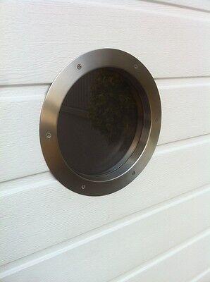Türbullauge 25cm Edelstahl Türfenster Bullauge Rundfenster edles Design