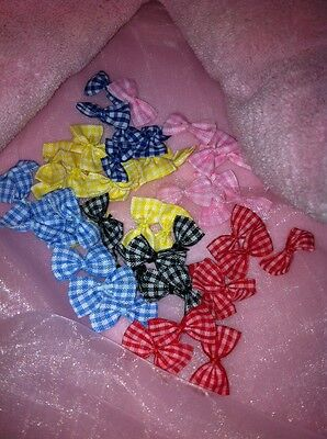 "100 pcs of 1"" check bow tie for scrapbooking DIY applique"