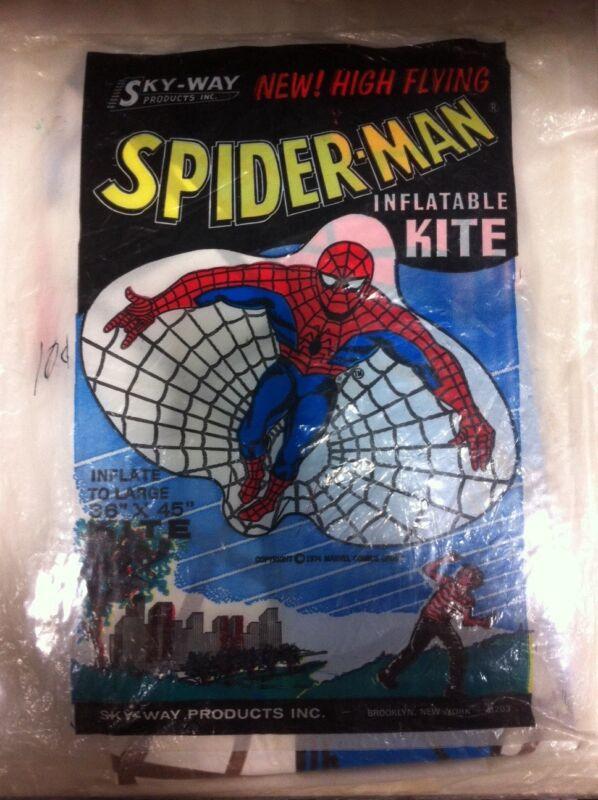 VINTAGE 1974 AMAZING SPIDER-MAN INFLATABLE KITE SEALED MIP!