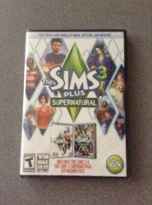 The Sims 3 Plus Supernatural Win Mac Dvd Rom       New