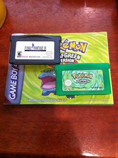 GBA games: Pokemon Leaf Green and Final Fantasy 4 Bedford Bayswater Area Preview