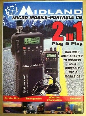 BRAND NEW Midland 75-822 Handheld Portable/Mobile 40 Channel CB Radio on Rummage
