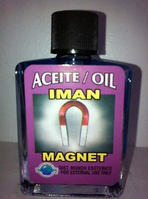 MYSTICAL/SPIRITUAL OIL (ACEITE) FOR SPELLS & ANOINTING 1/2 OZ MAGNET ( IMAN )