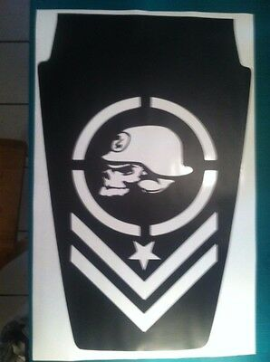 Metal Mulisha Hood Decal for Jeep military large Wrangler army graphics v1