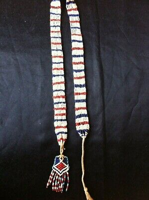 antique Tibetan / Nepalese beaded decoration / necklace