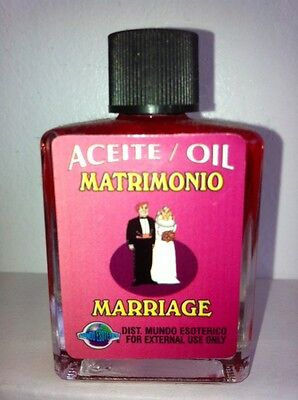 MYSTICAL / SPIRITUAL OIL (ACEITE) FOR SPELLS & ANOINTING 1/2 OZ MARRIAGE