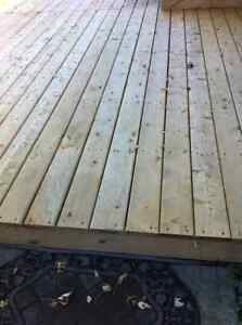 Deck Platform with gradual stairs for home or trailer