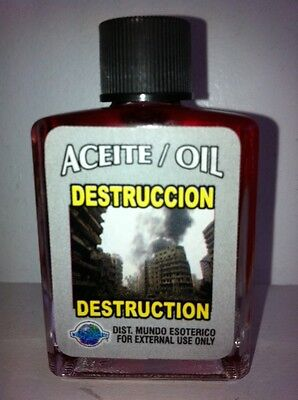 MYSTICAL / SPIRITUAL OIL (ACEITE) FOR SPELLS & ANOINTING 1/2 OZ DESTRUCTION