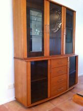 Solid Timber, Glass and Mirrored Buffett/ Display Cabinet Yamanto Ipswich City Preview