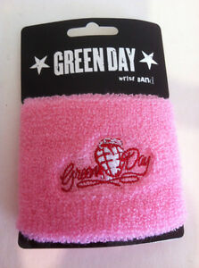GREEN-DAY-Pink-Heartgrenade-Wristband-Sweatband-Punk-NEW-OFFICIAL-MERCHANDISE