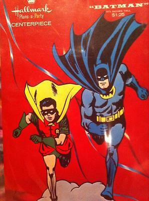 VINTAGE 1966 HALLMARK BATMAN CENTERPIECE DISPLAY! STILL SEALED MIP! NEVER USED!](Batman Centerpieces)