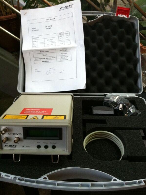 Fek Physiktechnik Optovib Optoelectronic Displacement Measurement Set New