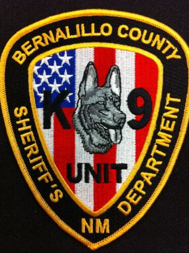 Bernalillo County Sheriff k9 k-9 State New Mexico Color patch US FLAG NEAT NM