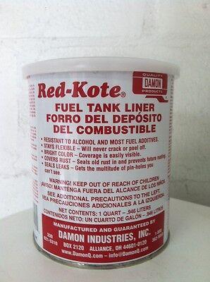 RED KOTE GAS FUEL TANK SEALER LINER  REDKOTE QT.